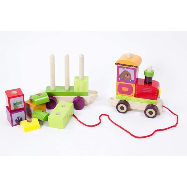 Hey Duggee Wooden Pull Along Stacking Train