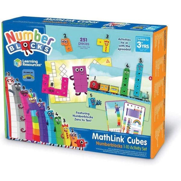 Learning Resources Mathlink Cubes 1-10 Number Blocks Activity Set