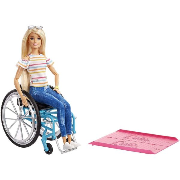 Barbie Fashionista & Wheelchair Blonde Doll