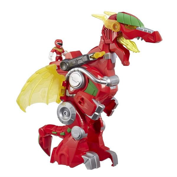 Power Rangers Playskool Heroes Red Ranger and Dragon Thunderzord Action Figure