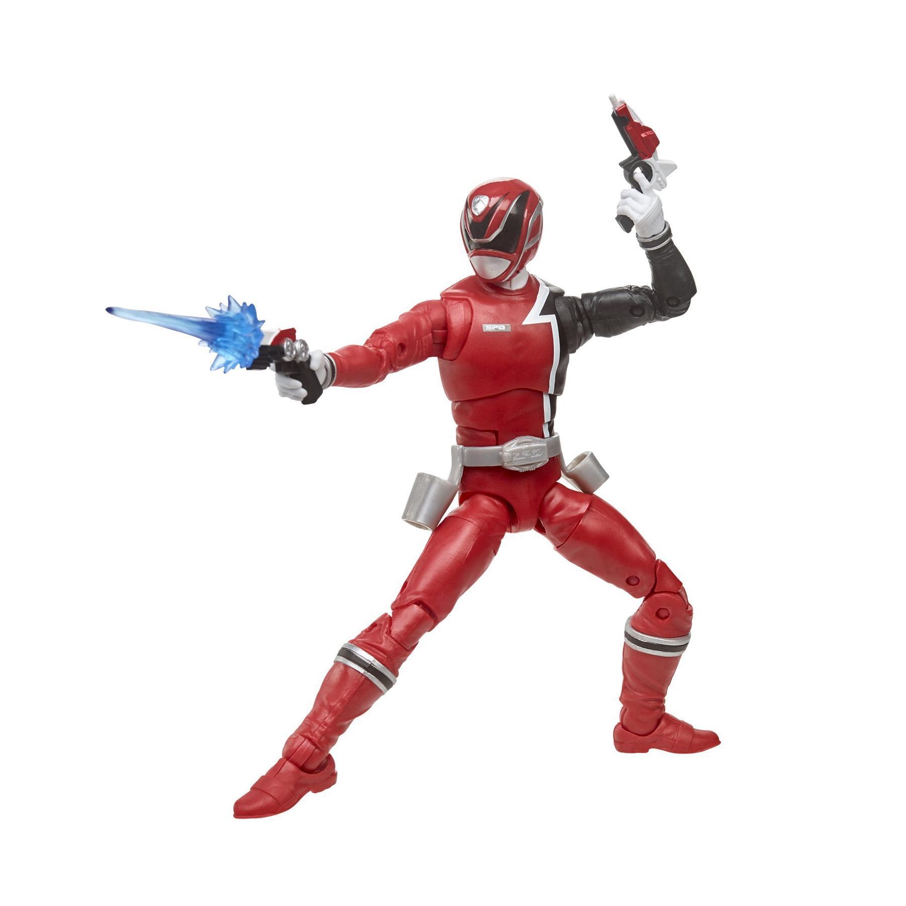 "Power Rangers 6/"" Lightning Series IN SPACE RED Figure Only 2-Pack SPLIT New UK"